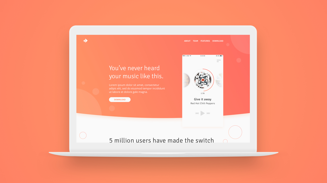 Sketch App Tutorial – Design a mobile app landing page